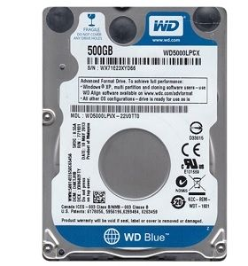 Western Digital Blue PC Mobile 2.5 500 GB Serial ATA III