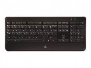 Logitech K800 keyboard RF Wireless AZERTY Belgian Black