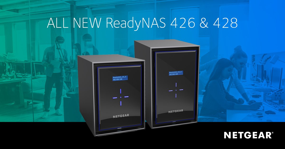 Netgear ReadyNAS 426 and 428