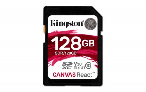 Kingston Technology SD Canvas React memory card 128 GB SDXC Class 10 UHS-I