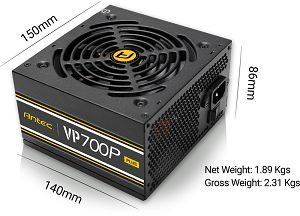 Antec VP700P Plus EC power supply unit 700 W ATX Black