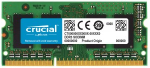 Crucial 8GB DDR3-1333 SO-DIMM CL9 memory module 1333 MHz