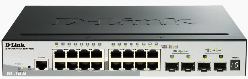 D-Link DGS-1510-20 network switch Managed L3 Gigabit Ethernet (10