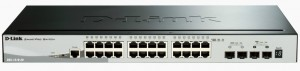 D-Link DGS-1510-28 network switch Managed L3 Gigabit Ethernet (10/100/1000) Black