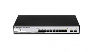 D-Link DGS-1210-10 network switch Managed L2 Gigabit Ethernet (10/100/1000) Black,Grey 1U