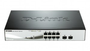 D-Link DGS-1210-08P network switch L2 Gigabit Ethernet (10/100/1000) Black Power over Ethernet (PoE)