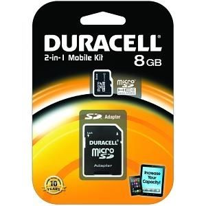 Duracell 8GB Micro SDHC card (Class 4) incl. SD-adapter