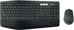 Logitech MK850 keyboard RF Wireless + Bluetooth AZERTY Belgian Black