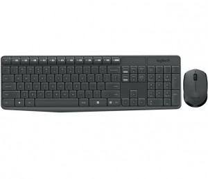 Logitech MK235 keyboard RF Wireless AZERTY Belgian Gray