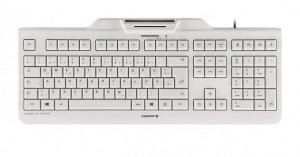 CHERRY KC 1000 SC keyboard USB AZERTY Belgian White