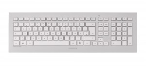 CHERRY DW 8000 keyboard RF Wireless French Silver, White