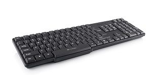 Modecom LK-12 keyboard USB French Black